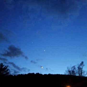 Venus, Jupiter and the Moon, June 21, 2015, Nyack NY