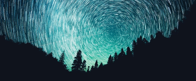"""""""Starry night"""". Astrophotography courtesy of Wallup.net"""